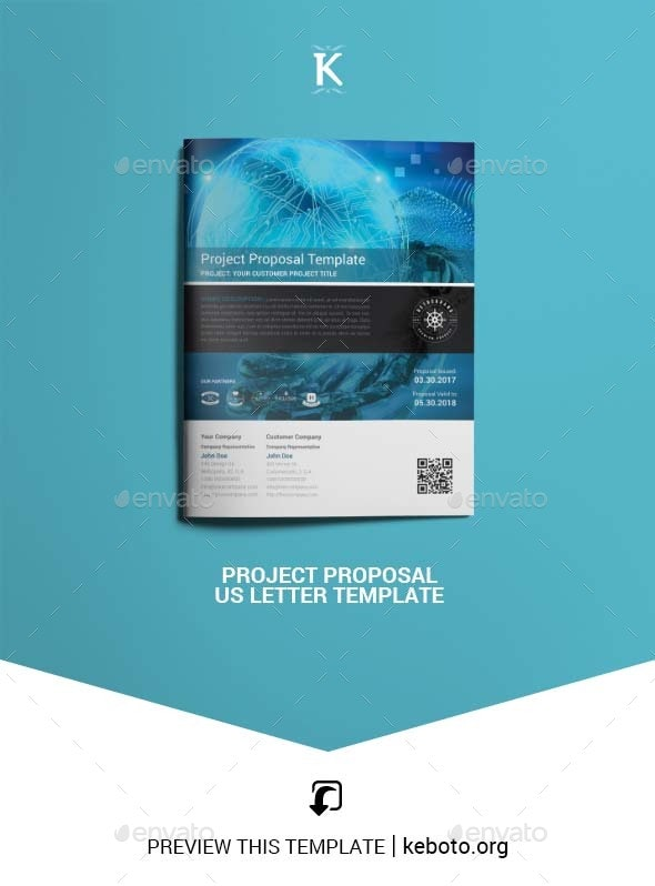 Project Proposal US Letter Template - Proposals & Invoices Stationery