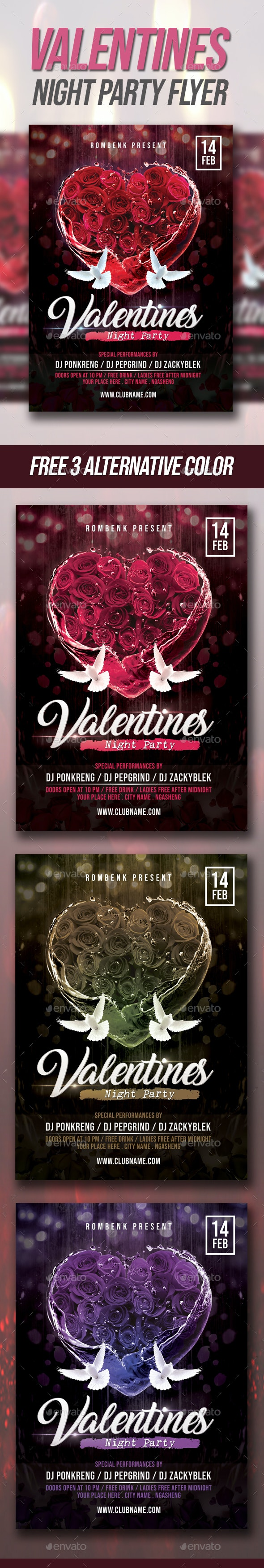Valentines Party Flyer - Events Flyers
