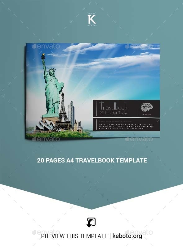 20 Pages A4 Travelbook Template - Brochures Print Templates