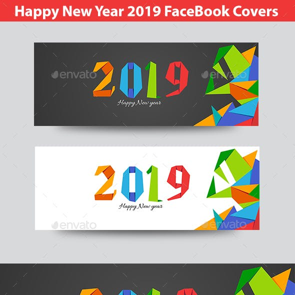 Happy  New Year 2019 FB Timeline Covers