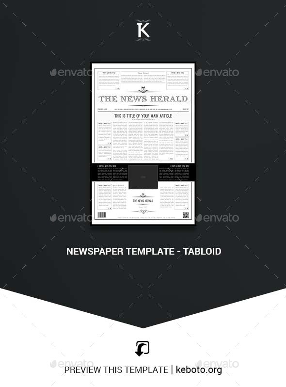 Newspaper Template - Tabloid - Magazines Print Templates