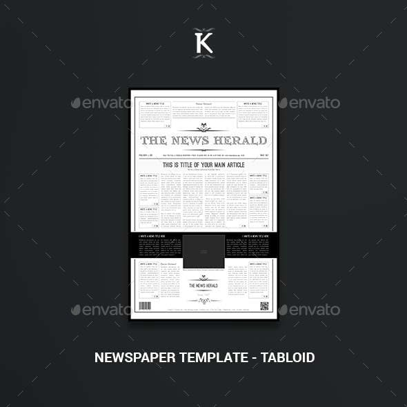 Newspaper Template - Tabloid