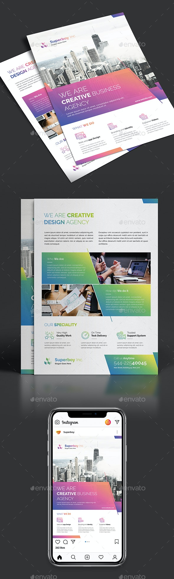 Double Sided Corporate Flyer - Corporate Flyers