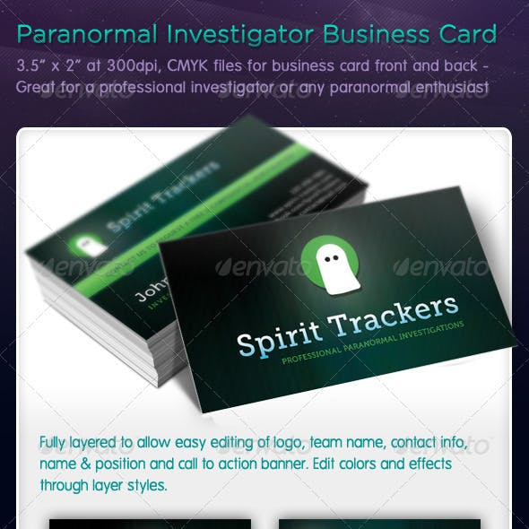 Paranormal Investigator Business Cards