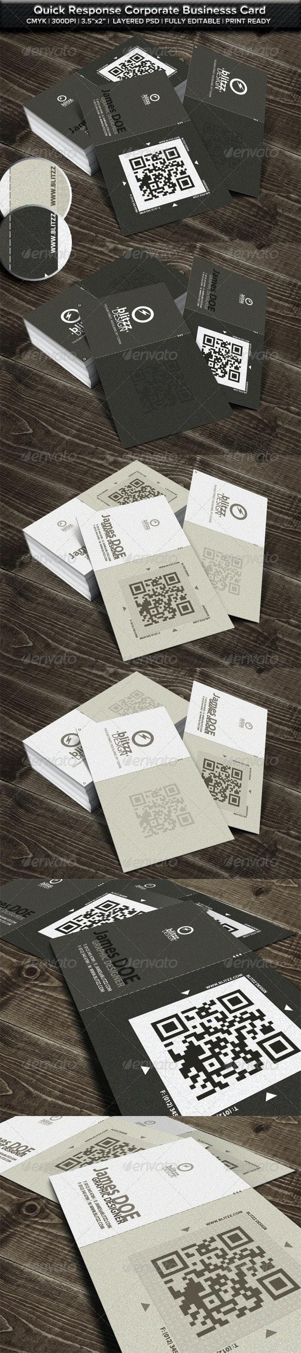 Elegant Corporate QR Business Card - Business Cards Print Templates