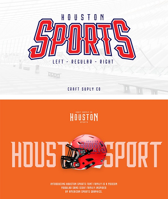 Houston Sports Font Family - Famous Decorative