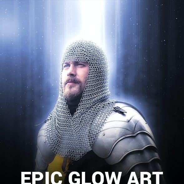 Epic Glow Art Photoshop Action