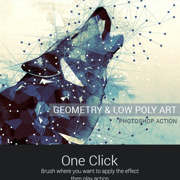 Geometry and Low Poly Art Photoshop Action