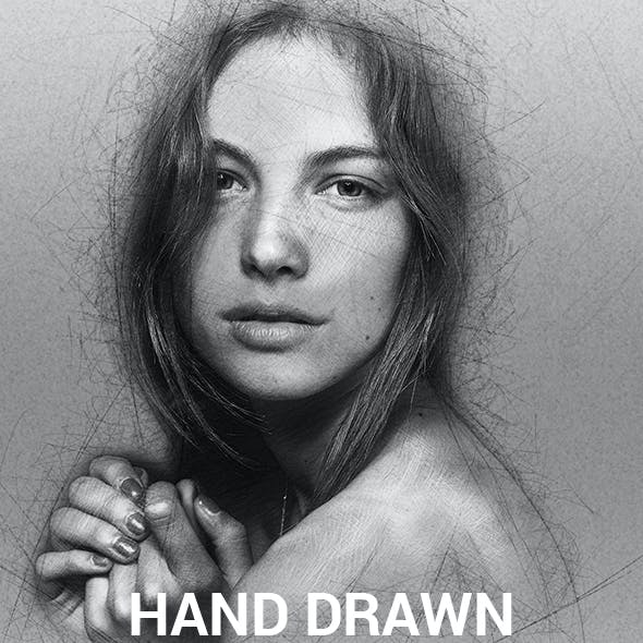 Hand Drawn Photoshop Action