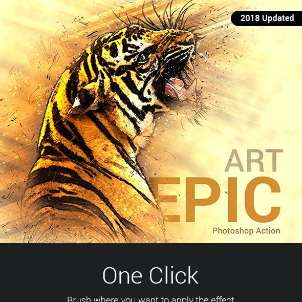 Epic Art 2 Photoshop Action
