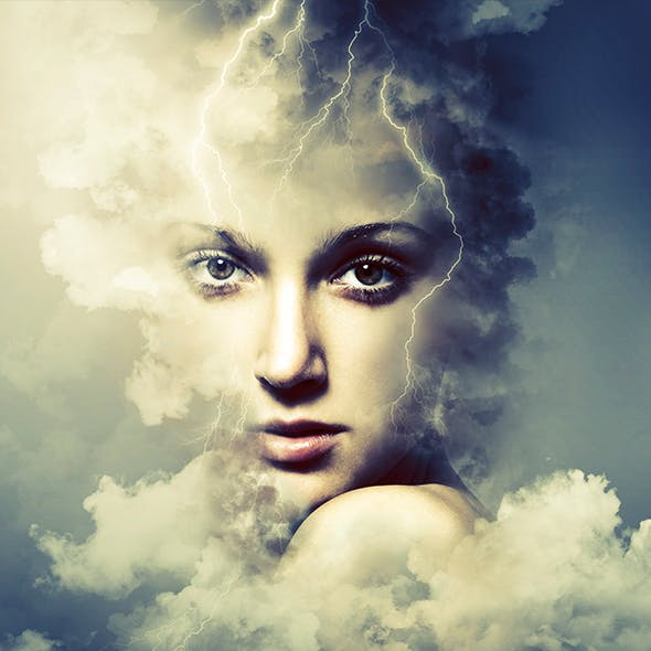 Cloud Rising Art Photoshop Action