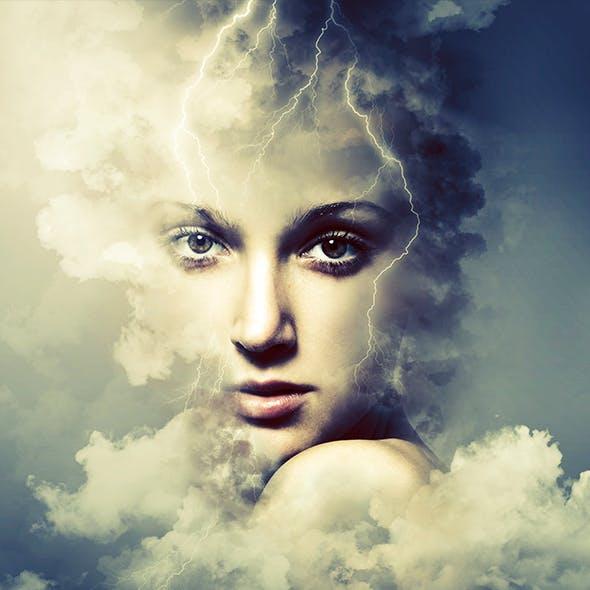 Cloud Rising Art Photoshop Action