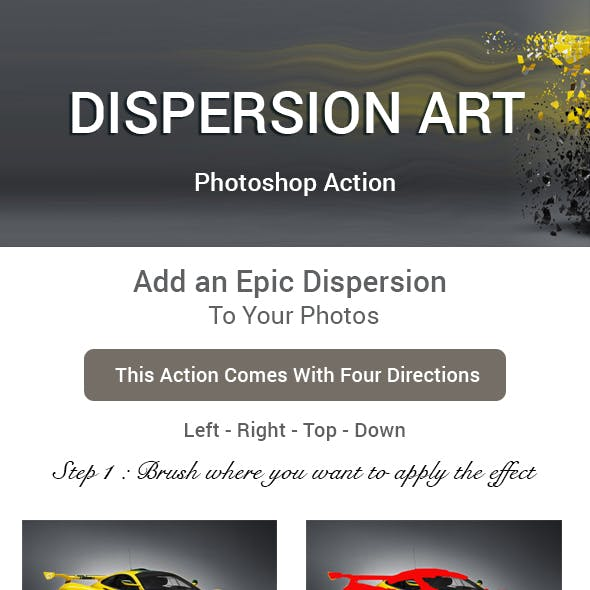 Dispersion Art Photoshop Action