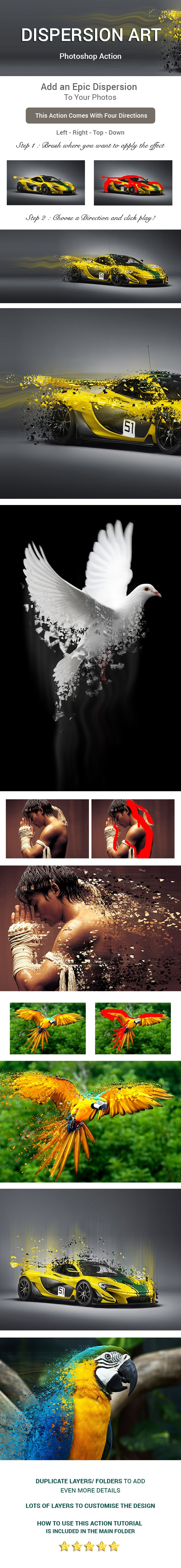 Dispersion Art Photoshop Action - Photo Effects Actions