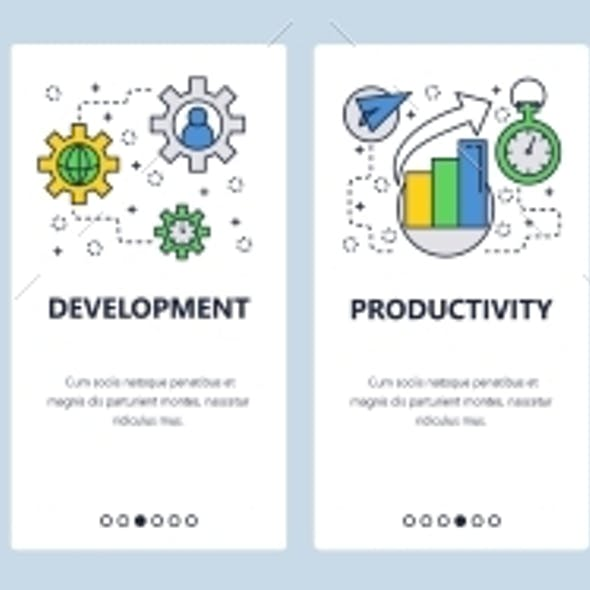 Web Site Onboarding Screens Software Development