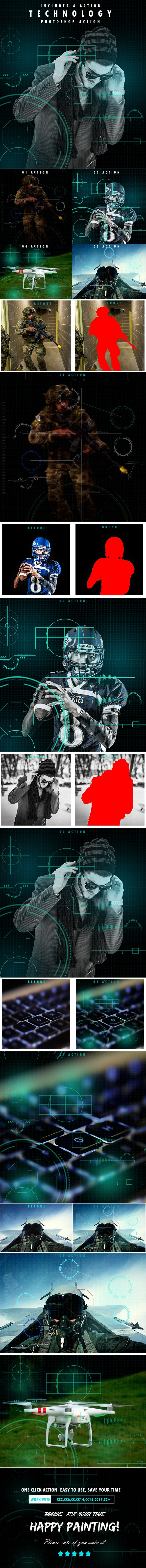 Technology Serie Photoshop Actions - Photo Effects Actions