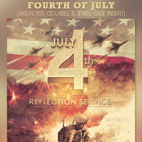 Fourth of July Flyer and CD Template