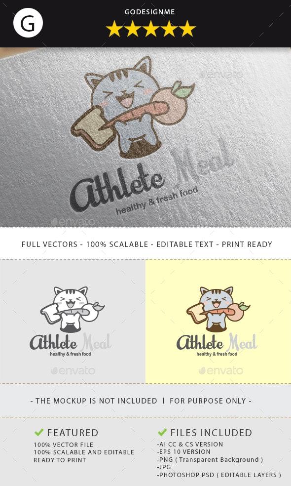 Athlete Meal Logo Design - Animals Logo Templates