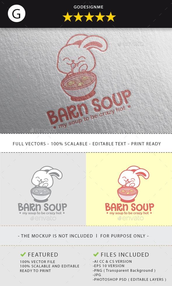 Barn Soup Logo Design - Animals Logo Templates