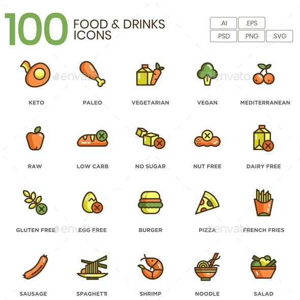 Food & Drink Icons - Eco Series