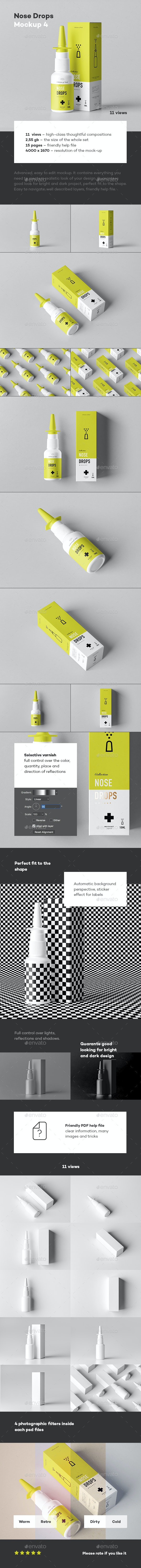 Nose Drops Mock-up 4 - Miscellaneous Packaging