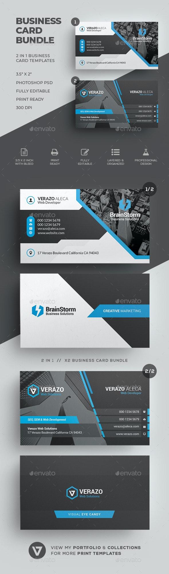 Business Card Bundle 64 - Corporate Business Cards
