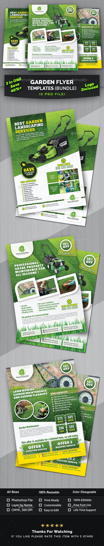 Garden Flyer Template Bundle - Commerce Flyers