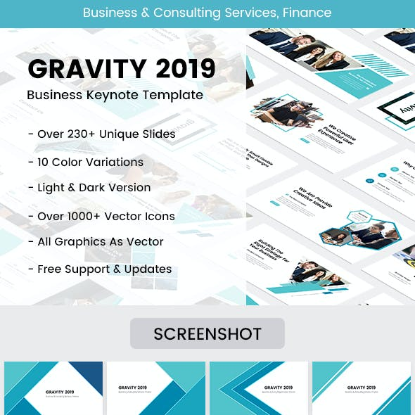 Gravity Business Keynote Template 2019