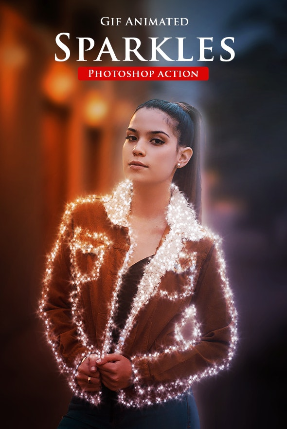 Gif Animated Sparkles Photoshop Action - Photo Effects Actions