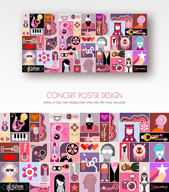 Concert Poster - Abstract Conceptual