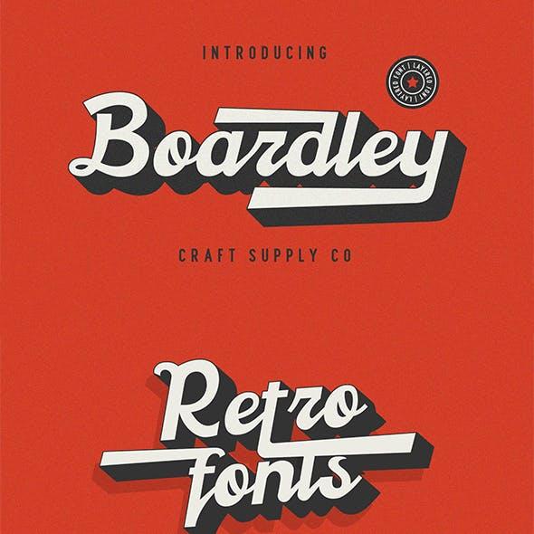 Boardley Script - Layered Font