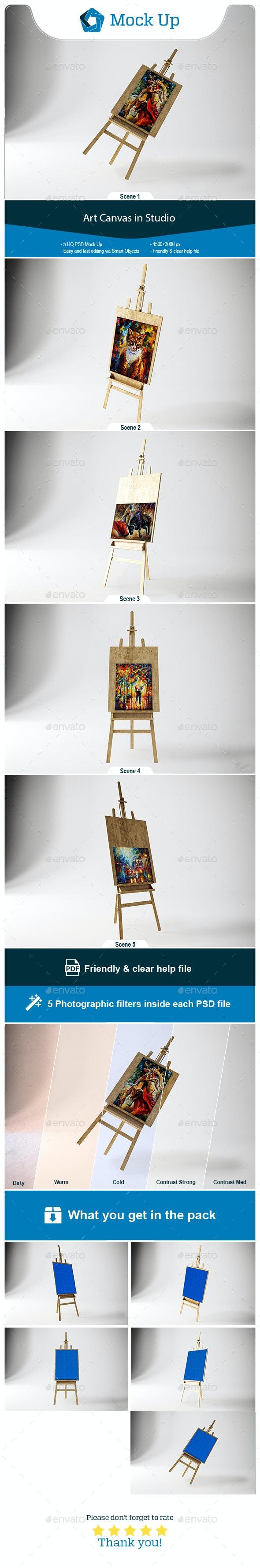 Art Canvas in studio - Miscellaneous Product Mock-Ups