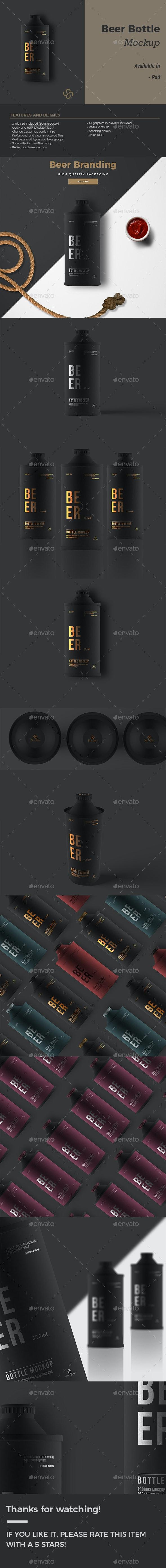 Beer Bottle Mockup - Product Mock-Ups Graphics