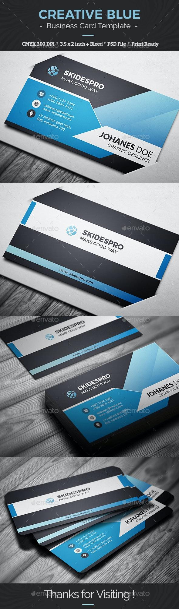 Creative Blue - Business Cards Print Templates