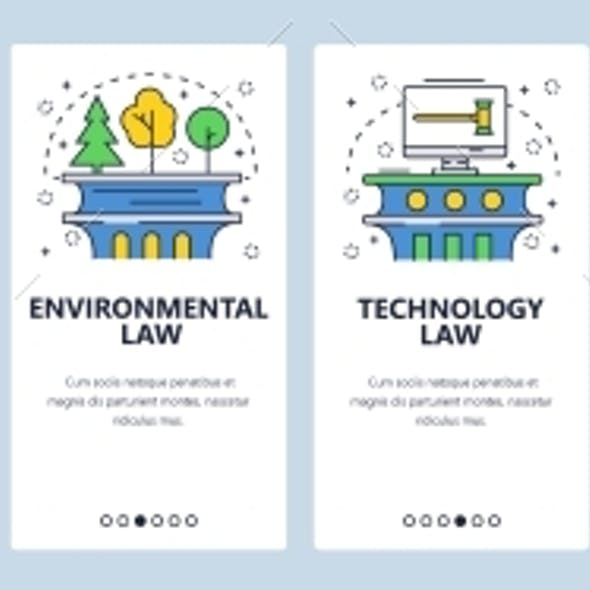 Web Site Onboarding Screens of Law