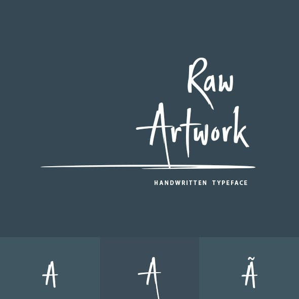 Raw Artwork Font