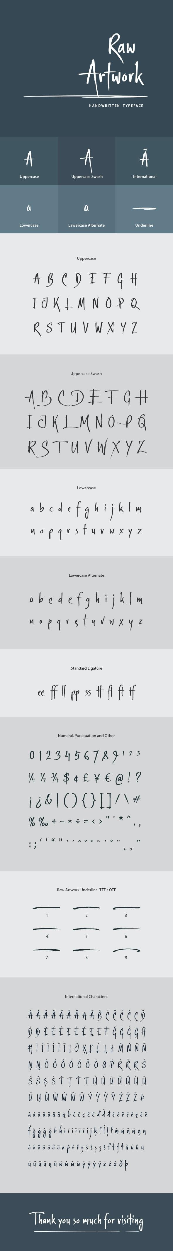 Raw Artwork Font - Handwriting Fonts
