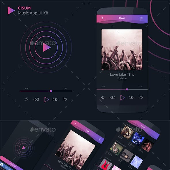 CISUM - Music App UI