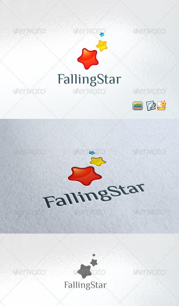 Falling star - Vector Abstract