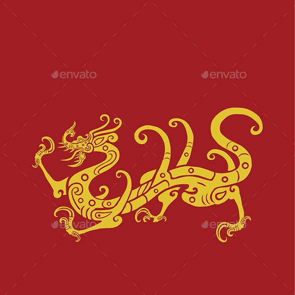 Traditional Chinese Style - Chinese Dragon Ornament