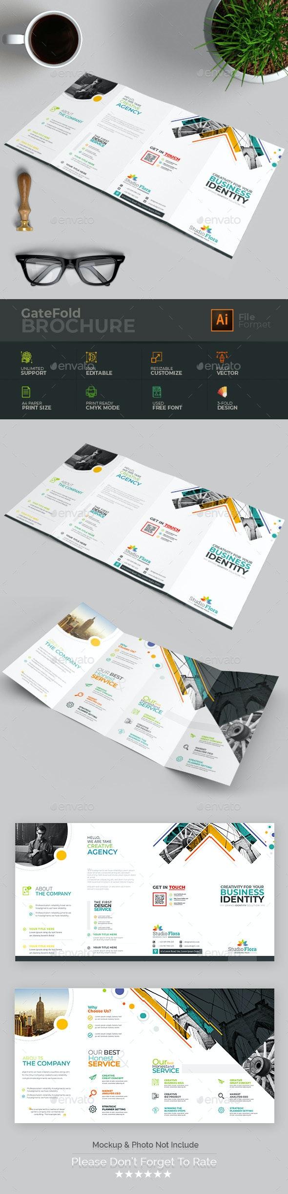 Double Gate-Fold Brochure - Brochures Print Templates