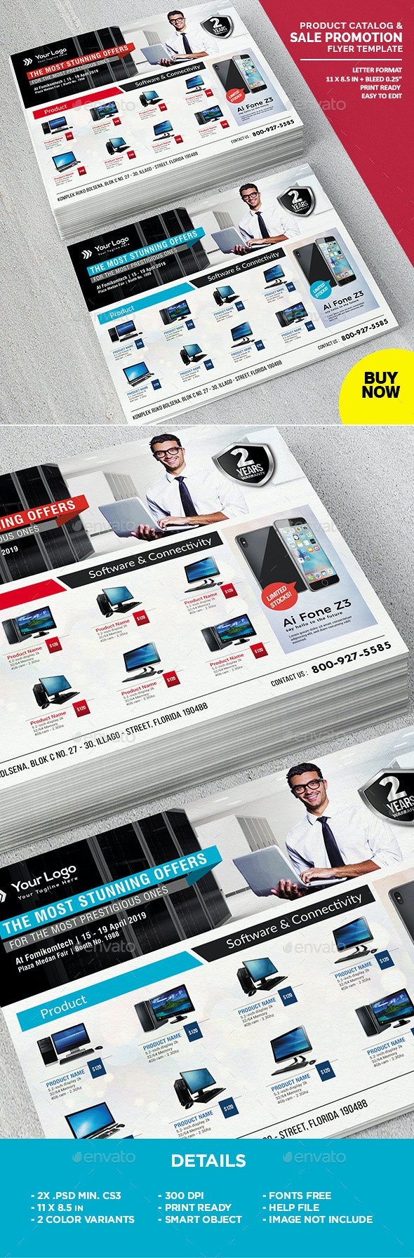 Product Catalog Flyer Template - Commerce Flyers