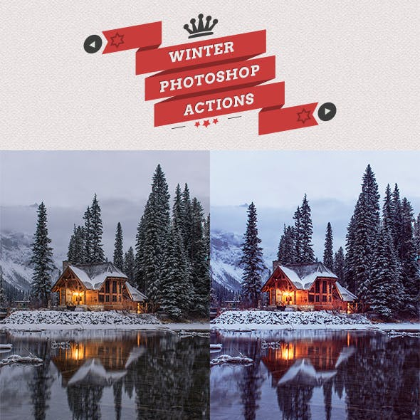 25 Winter Photoshop Actions