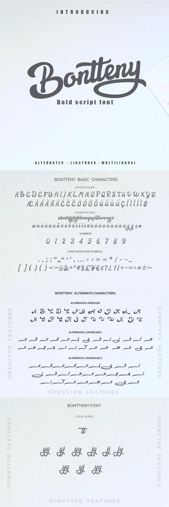 Bontteny Font - Script Fonts