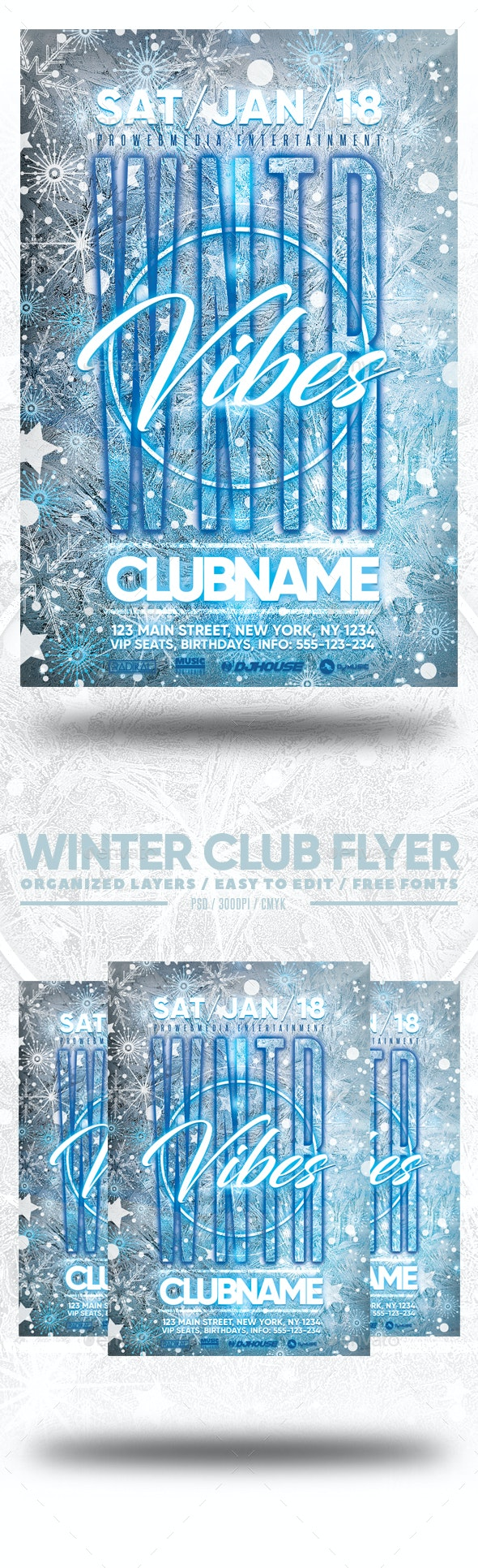 Winter Club Flyer - Clubs & Parties Events