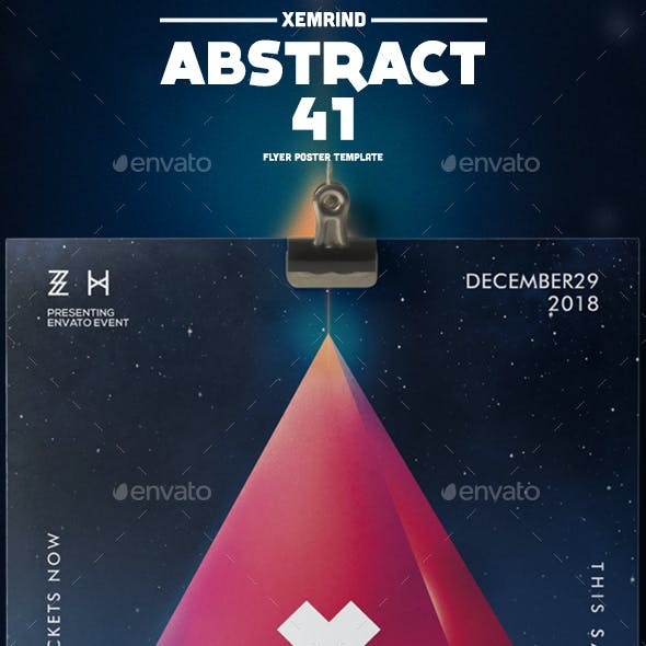 Abstract 41 Flyer/Poster Template
