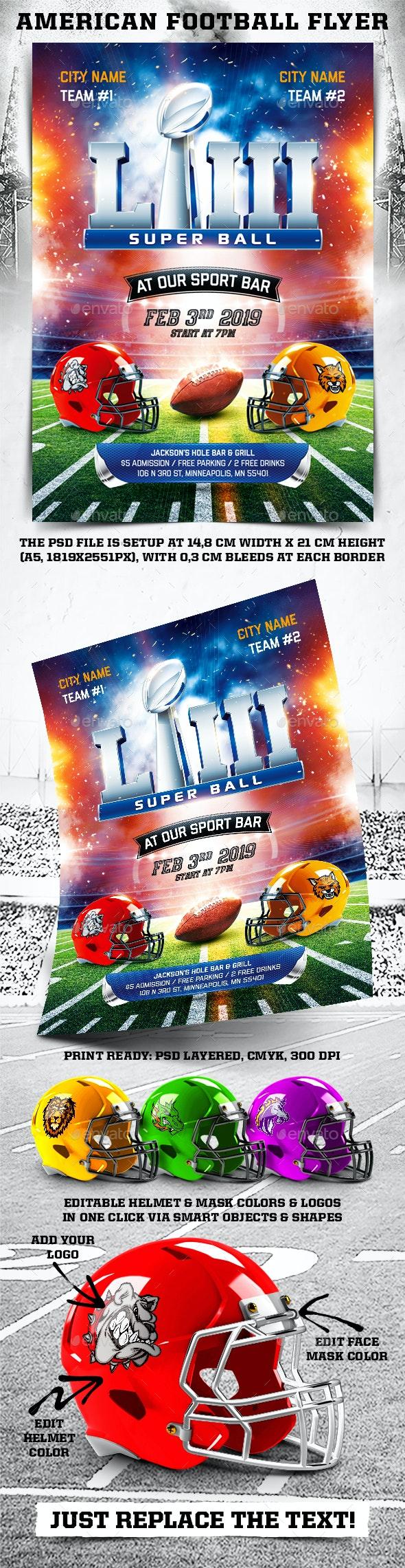 American Football Super Ball Flyer vol.9 - Sports Events