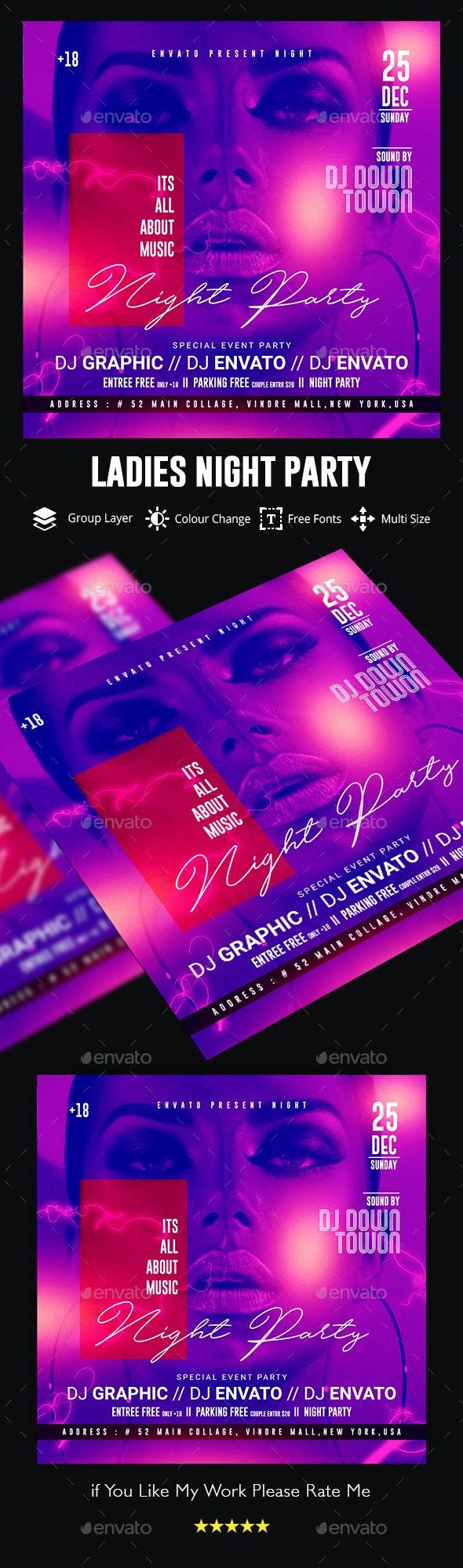 Ladies Night Club Flyer - Events Flyers