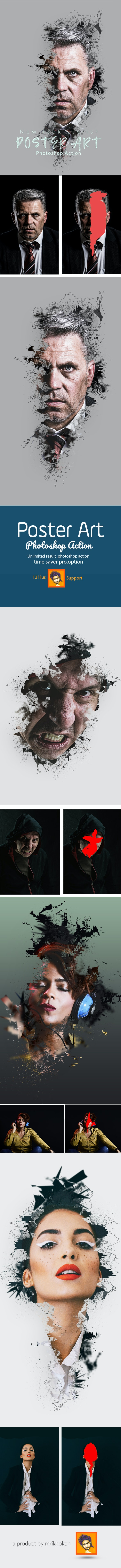 Poster Art Photoshop Action - Actions Photoshop
