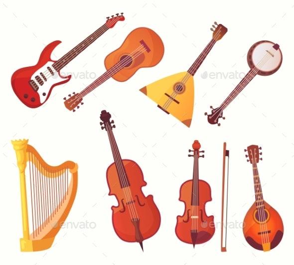 Cartoon Musical Instruments - Miscellaneous Vectors